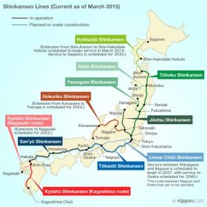 shinkansen route