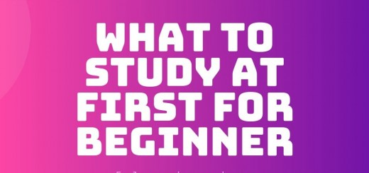 What to study at first for beginner